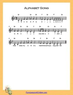 Alphabet Song B Flat Major