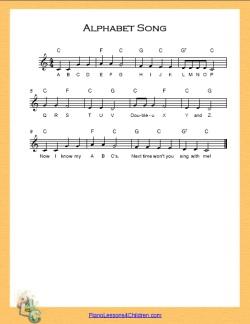 Alphabet Song C Major