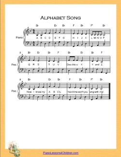 image relating to Free Printable Piano Sheet Music for Beginners With Letters identified as Piano Sheet Audio » simple piano new music notes composed Piano