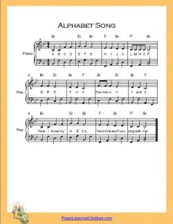 Alphabet Song (ABC Song) - lyrics, videos & free sheet music