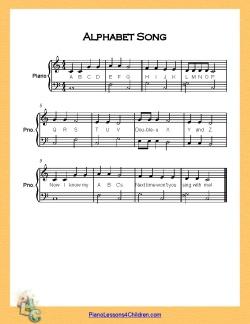 Alphabet Song Very Easy Piano C Major