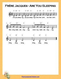 Frère Jacques (Are You Sleeping) - lyrics, videos & free sheet music