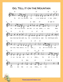 Go, Tell It On the Mountain - lyrics, videos & free sheet
