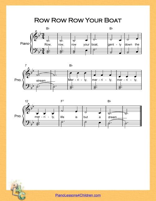 Row Row Row Your Boat - lyrics, YouTube videos & free sheet music ...