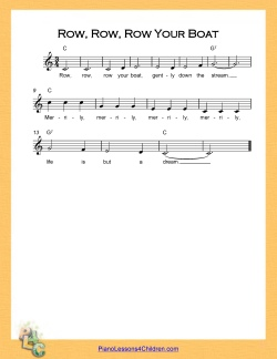 ... Row Your Boat - lyrics, YouTube videos & free sheet music for piano