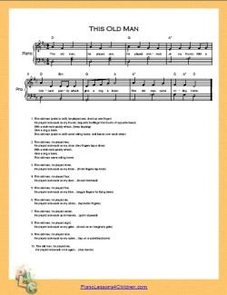 This Old Man Lyrics Videos Free Sheet Music For Piano