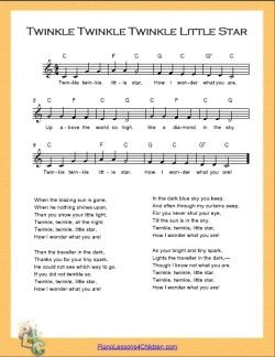 twinkle twinkle little star simple chords c major