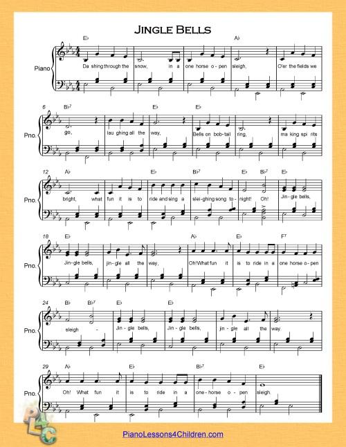 Piano piano chords jingle bells : Jingle Bells - lyrics, videos & free sheet music for piano